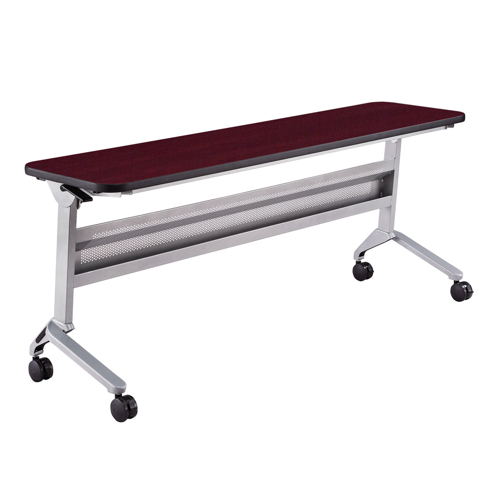 "Safco Products Flip-N-Go 18 x 72"" Rectangular Training Table, LPL LF1872TSLVRMH(Image 1)"