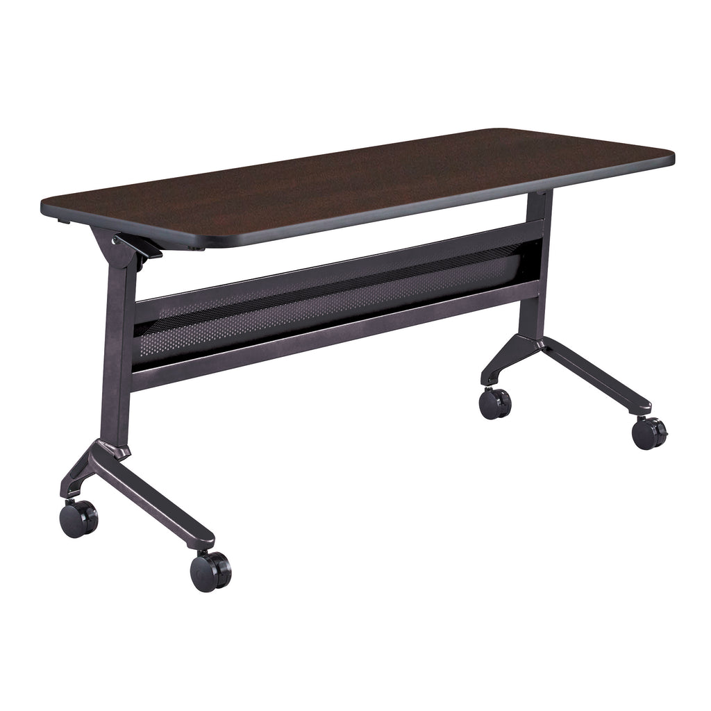 "Safco Products Flip-N-Go 24 x 60"" Rectangular Training Table, LPL LF2460TSLDCM(Image 1)"