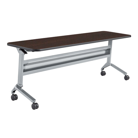 "Safco Products Flip-N-Go 24 x 72"" Rectangular Training Table, LPL LF2472TSLVLDCM(Image 1)"