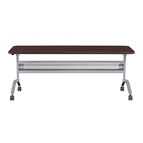 "Safco Products Flip-N-Go 24 x 72"" Rectangular Training Table, LPL LF2472TSLVLDCM(Image 2)"