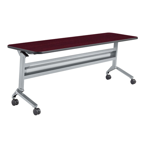 "Safco Products Flip-N-Go 24 x 72"" Rectangular Training Table, LPL LF2472TSLVRMH(Image 1)"
