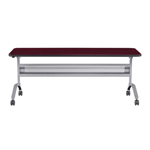"Safco Products Flip-N-Go 24 x 72"" Rectangular Training Table, LPL LF2472TSLVRMH(Image 2)"
