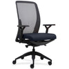 Lorell Made in America Executive Mesh Back/Fabric Seat Task Chair in Dark Blue