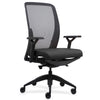 Lorell Made in America Executive Mesh Back/Fabric Seat Task Chair in Black