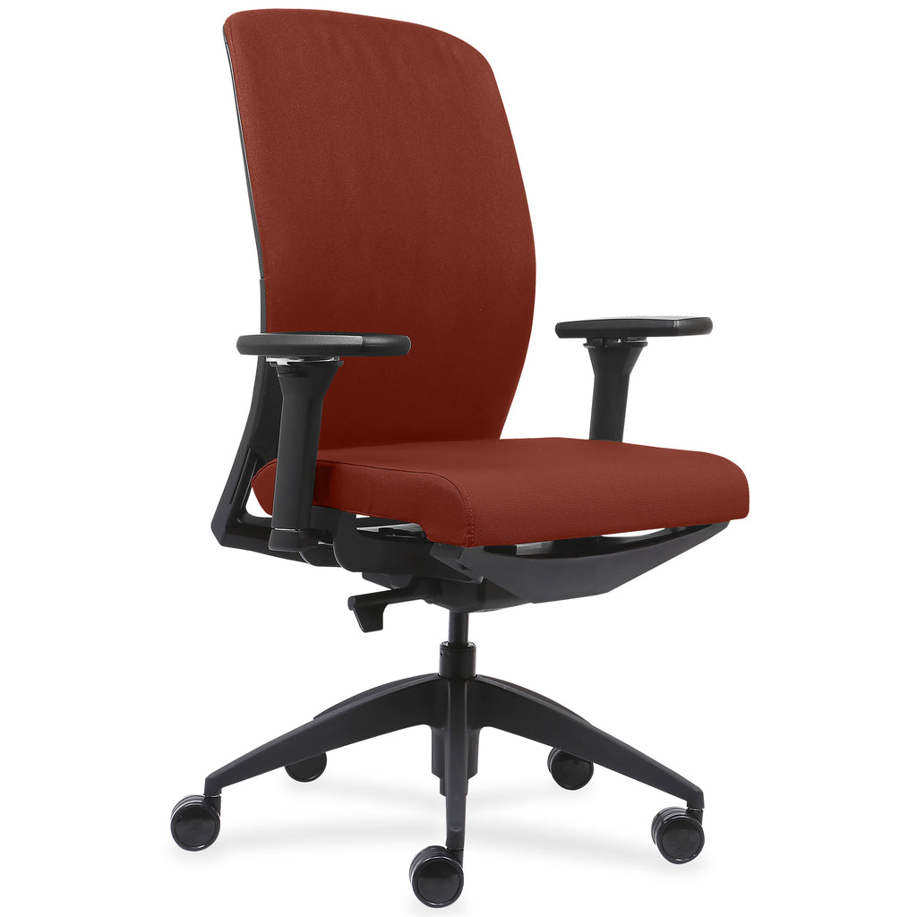 Lorell Made in America Executive Chairs w/Fabric Seat & Back in Orange ; UPC: 035255830751