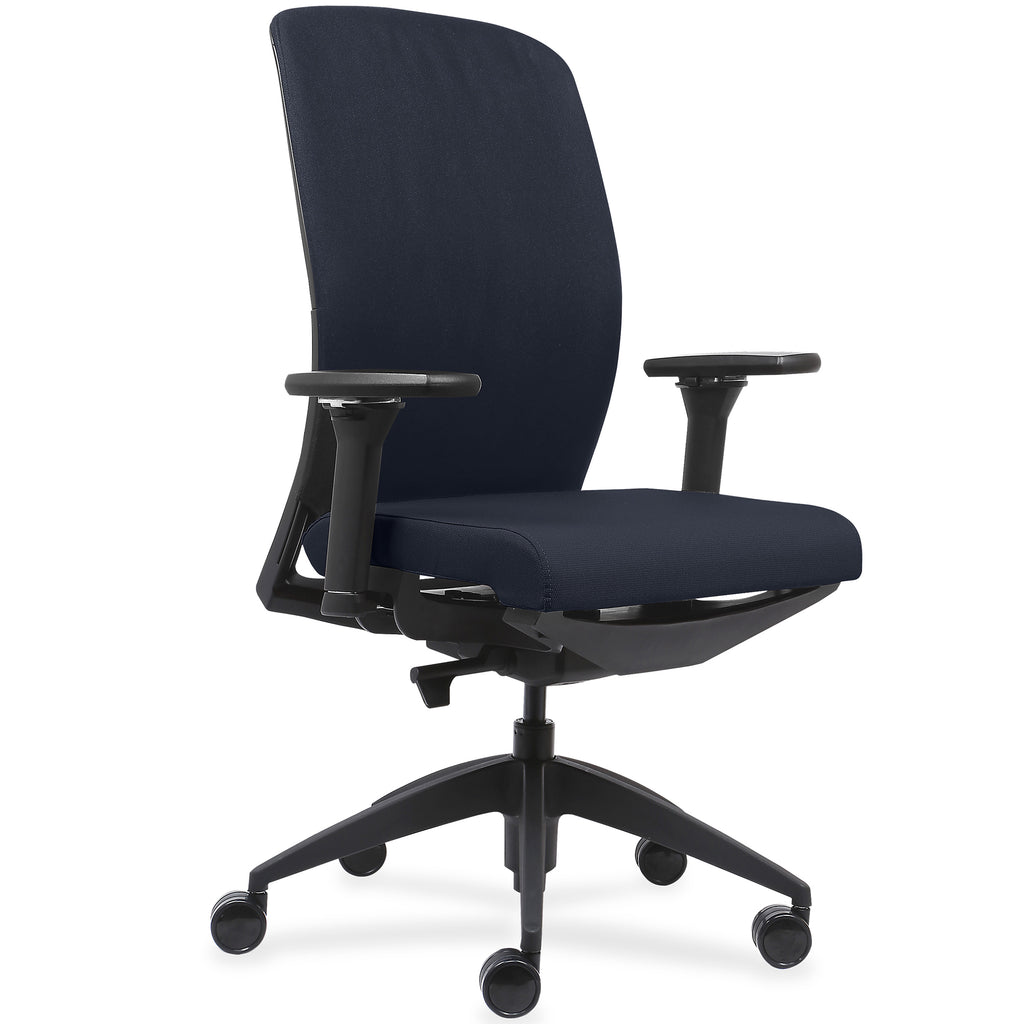 Lorell Made in America Executive Chairs w/Fabric Seat & Back in Dark Blue ; UPC: 035255830751