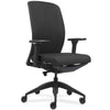 Lorell Made in America Executive Chairs w/Fabric Seat & Back in Black