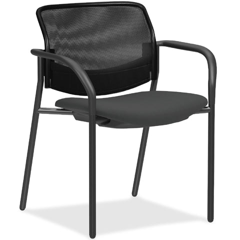 Lorell Made in America Guest Chair w/Mesh Back in Black, 2/CT ; UPC: 035255830751