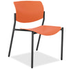 Lorell Made in America Stack Chairs w/Molded Plastic Seat & Back in Orange, 2/CT