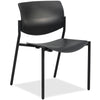 Lorell Made in America Stack Chairs w/Molded Plastic Seat & Back in Black, 2/CT