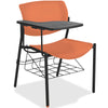 Lorell Made in America Writing Tablet Student Chairs in Orange, 2/CT