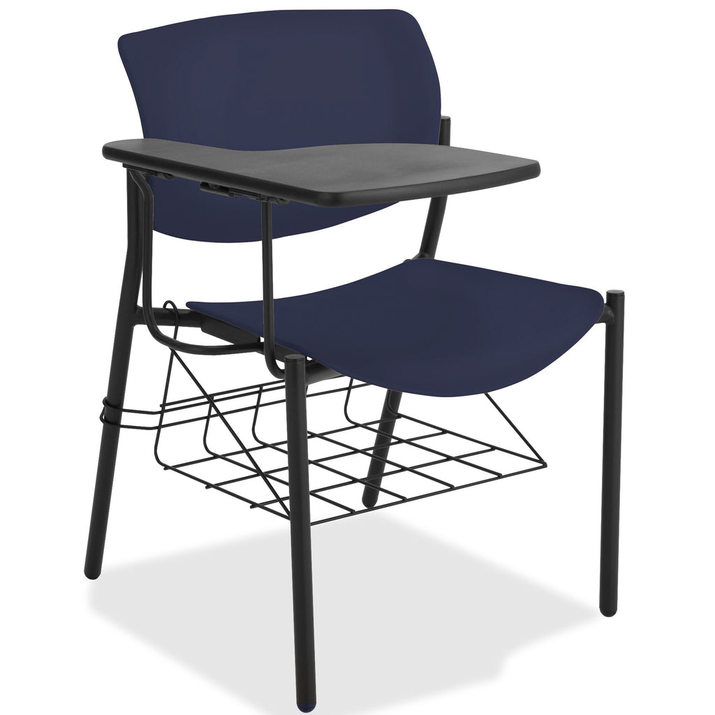 Lorell Made in America Writing Tablet Student Chairs in Dark Blue, 2/CT ; UPC: 035255830751