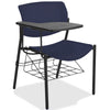 Lorell Made in America Writing Tablet Student Chairs in Dark Blue, 2/CT