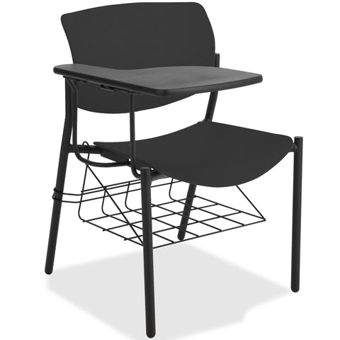 Lorell Made in America Writing Tablet Student Chairs in Black, 2/CT ; UPC: 035255830751