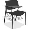 Lorell Made in America Writing Tablet Student Chairs in Black, 2/CT