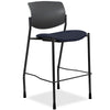 Lorell Made in America Fabric Seat Contemporary Stool in Dark Blue