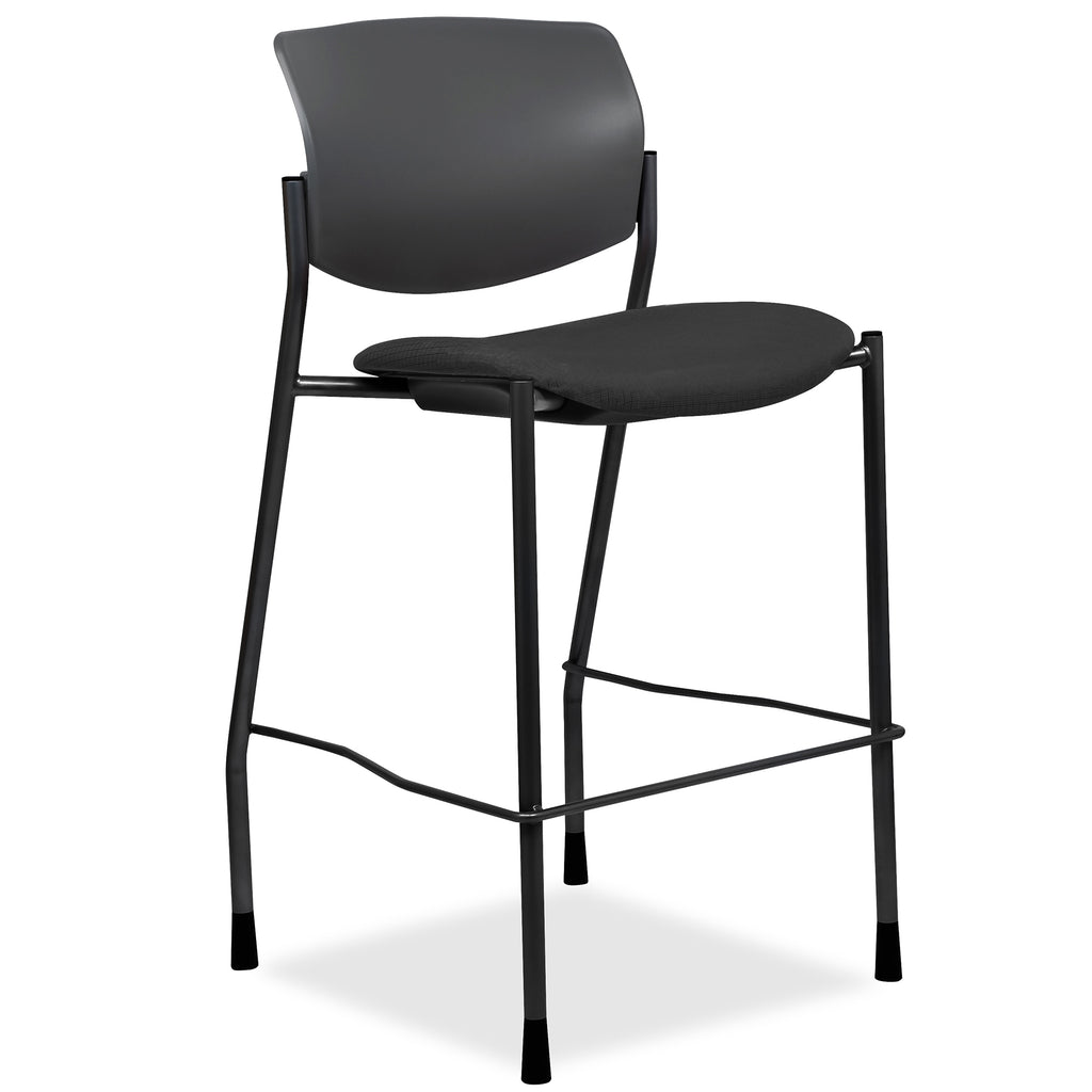 Lorell Made in America Fabric Seat Contemporary Stool in Black ; UPC: 035255830751