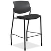 Lorell Made in America Fabric Seat Contemporary Stool in Black