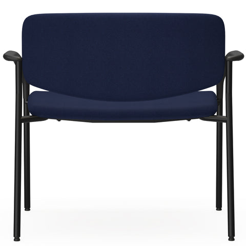 Lorell Made in America Bariatric Guest Chairs w/Fabric Seat & Back in Dark Blue ; UPC: 035255830751 ; Back View