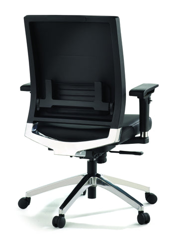 Lorell Lower Back Black Leather Swivel Executive Chair