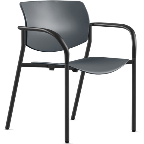 Lorell Made in America Stack Chairs w/Plastic Seat & Back ; UPC: 035255830751