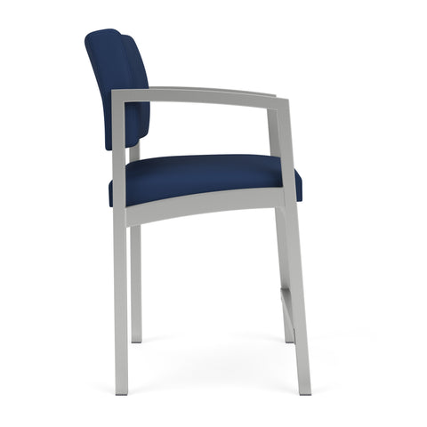 Lesro Lenox Steel Lenox Steel Hip Chair in Wipe-Clean Urethane, Dillon Ocean