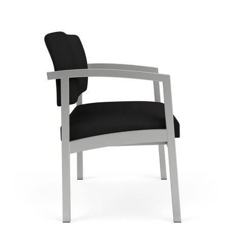 Lesro Lenox Steel Bariatric Chair in Solid Fabric, Open House Black