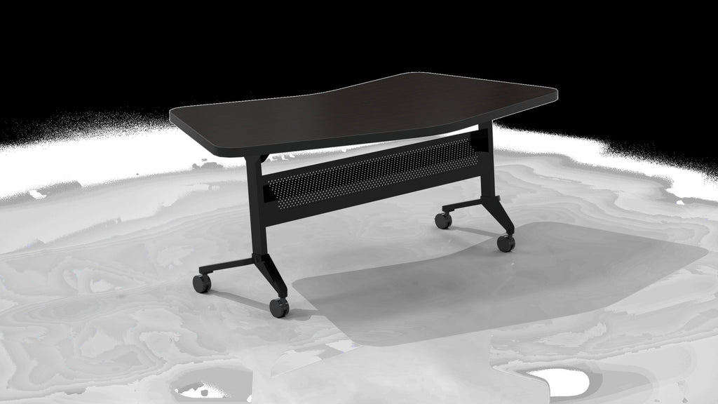 "Safco Products Flip-N-Go 24""x72"" Rectangular Training Table, LPL LT24TLDCM(Image 1)"