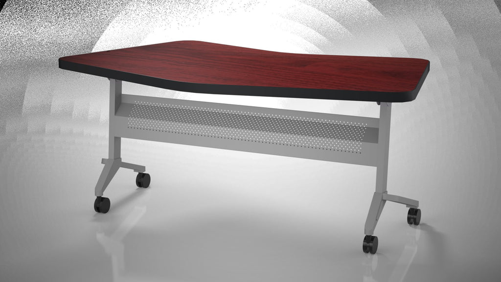 "Safco Products Flip-N-Go 24""x72"" Rectangular Training Table, LPL LT24TRMH(Image 1)"