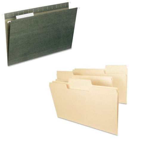 Legal Size Filing Accessory Bundle - File & Hanging File Folders