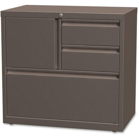 "Lorell 30"" Personal Storage Center Lateral File LLR60934, Brown (UPC:035255609340)"