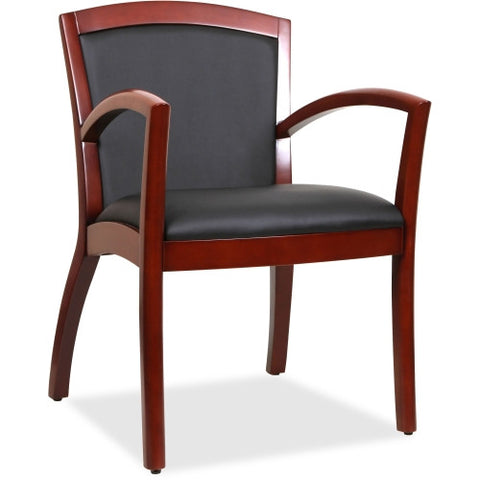 Lorell Arched Arms Wood Guest Chair LLR20010, Cherry (UPC:035255200103)