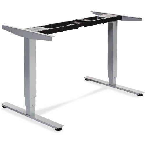 Lorell Electric Height Adj. Sit-Stand Desk Frame LLR25993, Silver (UPC:035255259934)
