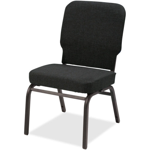 Lorell Fabric Back/Seat Oversized Stack Chairs LLR59597, Black (UPC:035255595971)