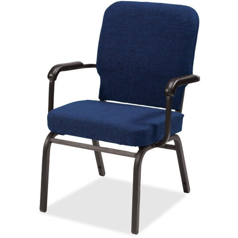 Lorell Fixed Arms Fabric Oversized Stack Chairs LLR59602, Blue (UPC:035255596022)