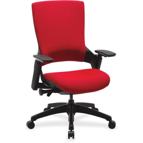 Lorell Executive Multifunction High-back Chair LLR59528, Red (UPC:035255595285)