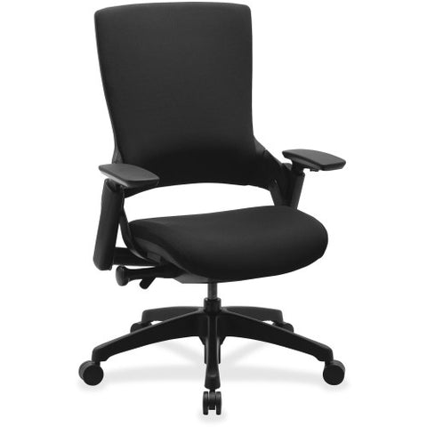 Lorell Executive Multifunction High-back Chair LLR59527, Black (UPC:035255595278)