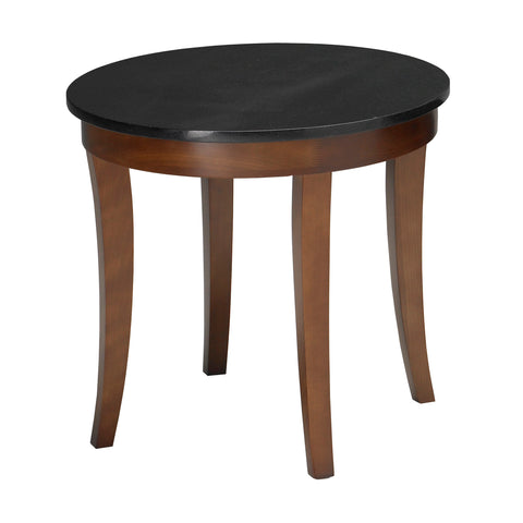 Safco Products Midnight End Table with Black Granite Top M103RSCR(Image 2)