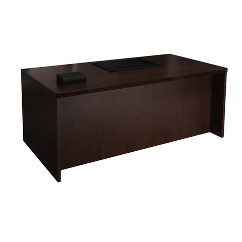 "Safco Products Mira Series 72"" Straight Front Desk MDKS3672ESP(Image 1)"