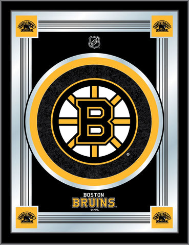 Boston Bruins 17 x 22 Logo Mirror by Holland Bar Stool Company; UPC: 071235381288