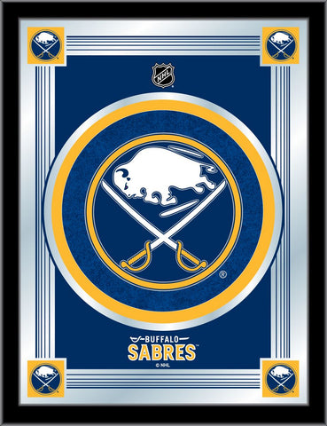 Buffalo Sabres 17 x 22 Logo Mirror by Holland Bar Stool Company; UPC: 071235381295