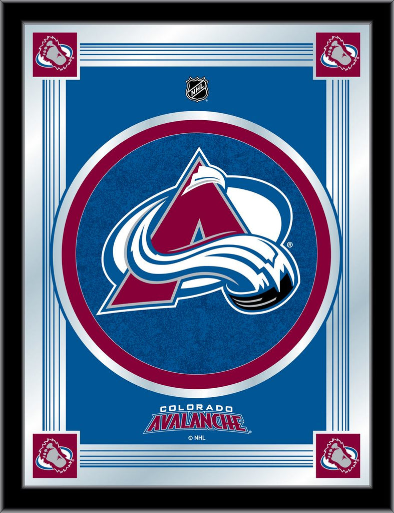 Colorado Avalanche 17 x 22 Logo Mirror by Holland Bar Stool Company; UPC: 071235381332