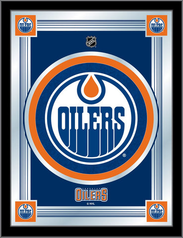 Edmonton Oilers 17 x 22 Logo Mirror by Holland Bar Stool Company; UPC: 071235381370