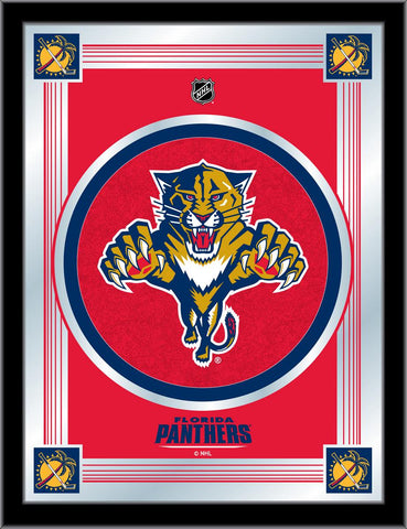 Florida Panthers 17 x 22 Logo Mirror by Holland Bar Stool Company; UPC: 071235381387