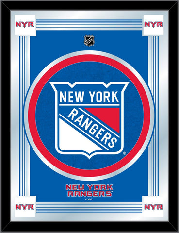 New York Rangers 17 x 22 Logo Mirror by Holland Bar Stool Company; UPC: 071235381455