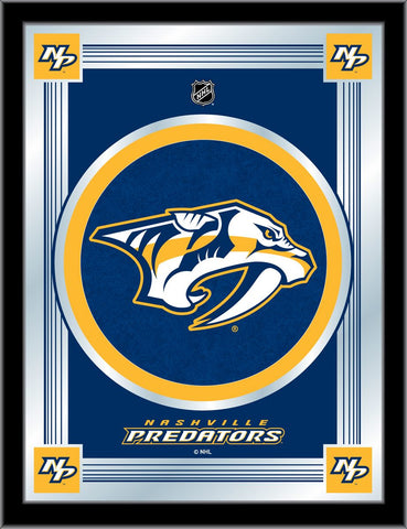Nashville Predators 17 x 22 Logo Mirror by Holland Bar Stool Company; UPC: 071235381431