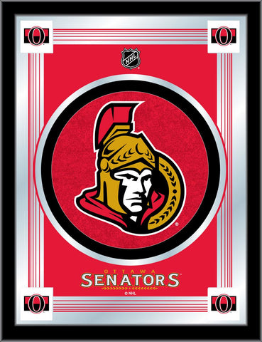 Ottawa Senators 17 x 22 Logo Mirror by Holland Bar Stool Company; UPC: 071235381462