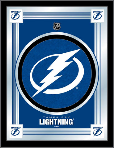 Tampa Bay Lightning 17 x 22 Logo Mirror by Holland Bar Stool Company; UPC: 071235381523
