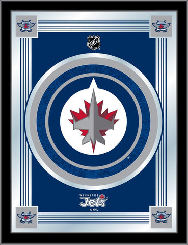 Winnipeg Jets 17 x 22 Logo Mirror by Holland Bar Stool Company; UPC: 071235381554