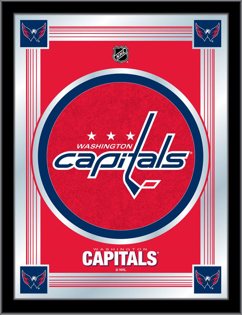 Washington Capitals 17 x 22 Logo Mirror by Holland Bar Stool Company; UPC: 071235381561
